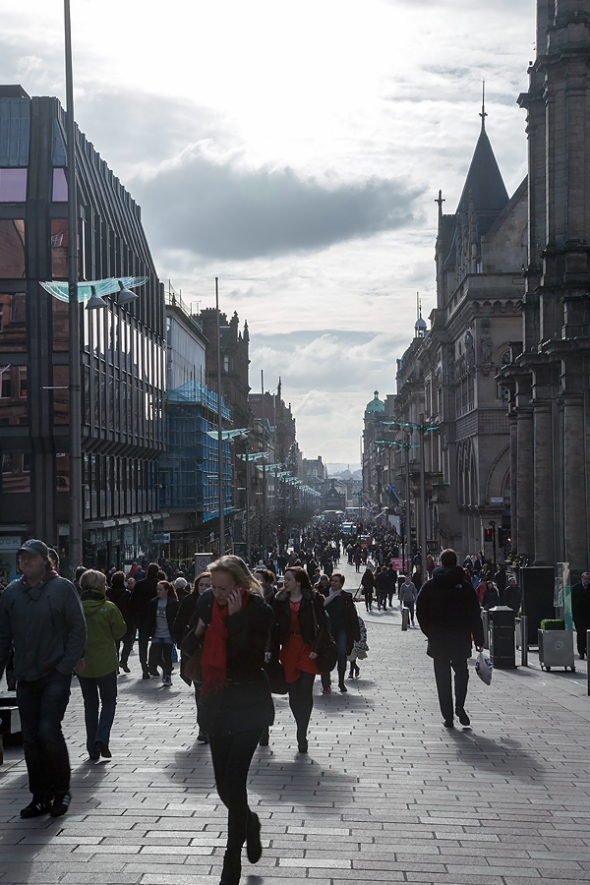 the busy Glasgow