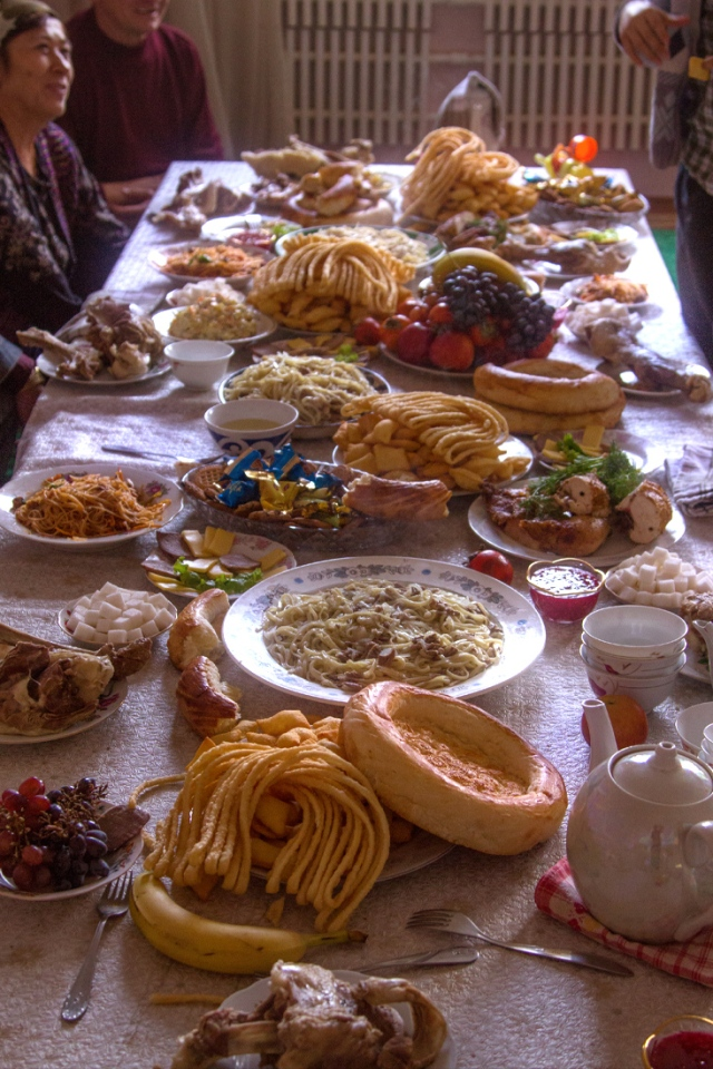 hehe... actually they cant finish even half of it... maybe its only the tradition to serve all the food in the house