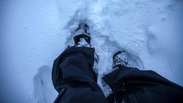 deep snow...