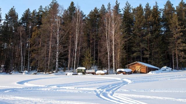 scenery along the Swedish Lapland...