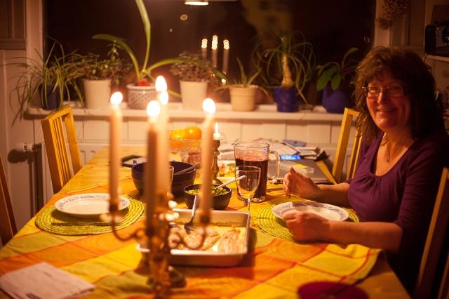 Lena, Hugo's mom who hosted me a few days in Jokkmokk, were so nice to prepare a delicious dinner