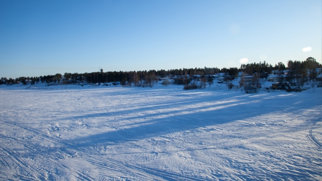 frozen lakes everywhere near Lulea