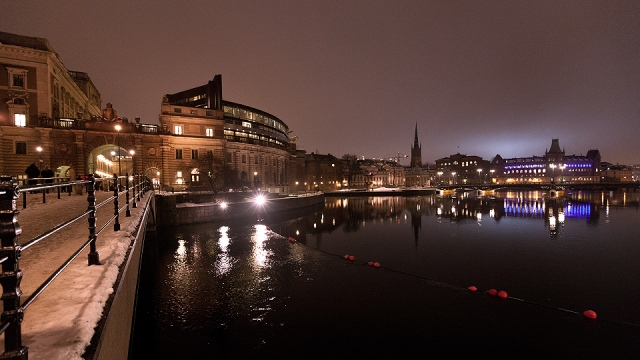 vibrant Stockholm city