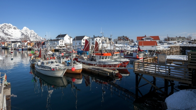 beautiful fishing village in Henningsvaer
