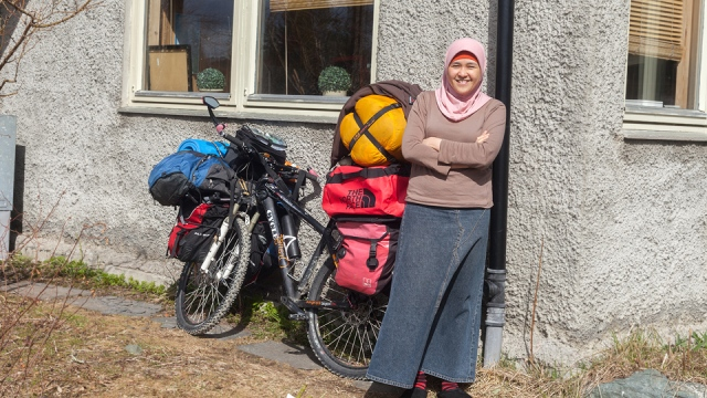 Nelda, the Indonesian woman who was kind enough to host me for 2 days