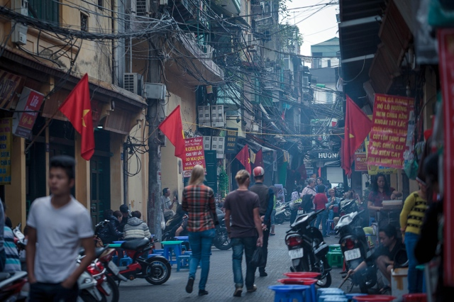 busy street of Hanoi