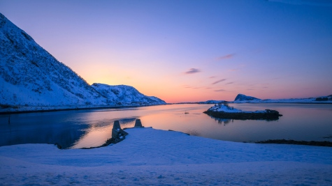 The magical colours in Andfjorden, Northern Norway
