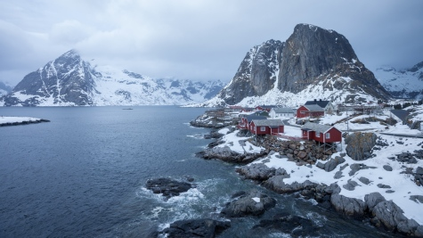 Fishing village near Moskenes, Lofoten Island