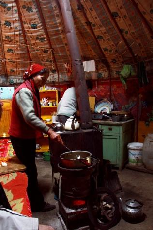 Inside the Kazakh Yurt