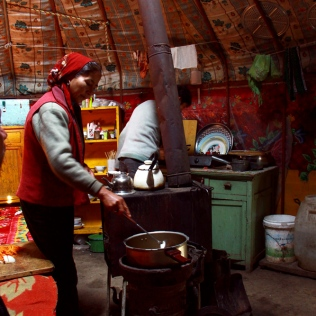 Inside the Kazakh Yurt
