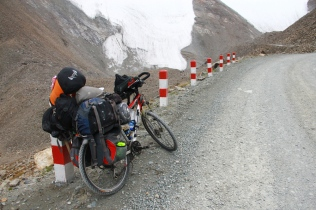 Glacier in the Tian Shan Mountain