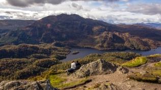 Hikers near Loch Lomond