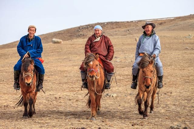 Mongolian horsemen!