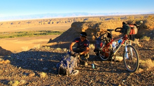 Preparing to camp in the steppe