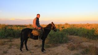 Kazakh horseman posed for my camera