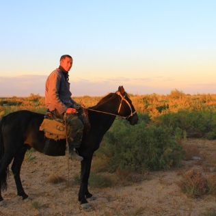 Kazakh horseman posed for my camera