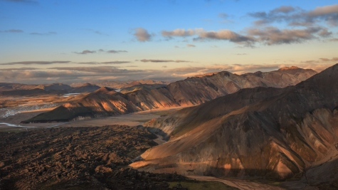 The multicolour hills of Landmannalaugar