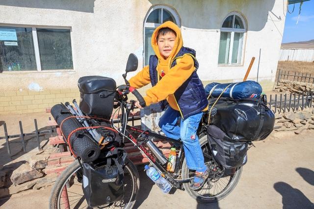 the boy really like my bike