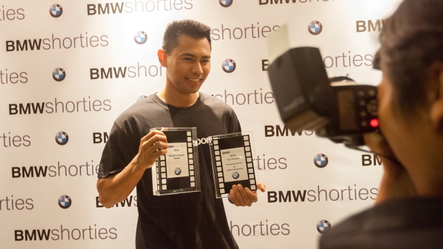 I won the People's Choice Award during the BMW Shorties competition in 2013