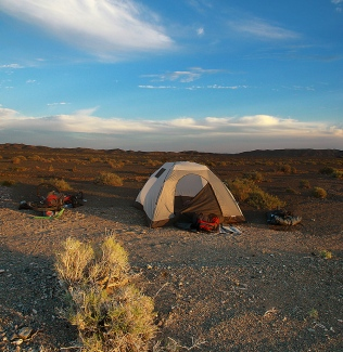 Camping in no-man's land