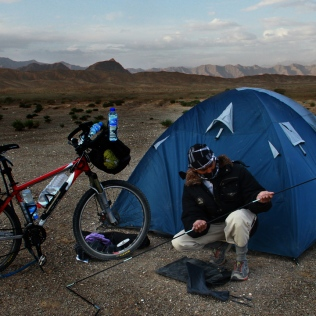 Camping near the Kunlun Mountain