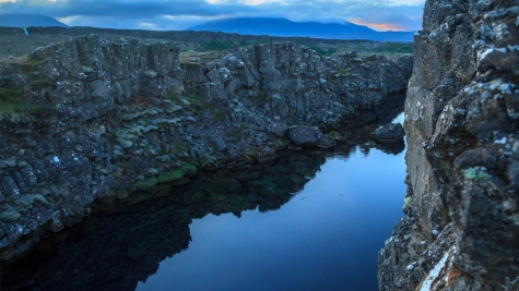 The meeting place of North American and Eurasian Tectonic Plate, Golden Circle