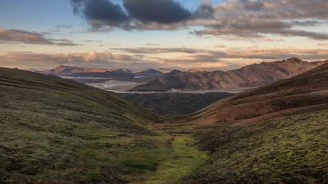 One of the most beautiful hiking trail in the world in Landmannalaugar