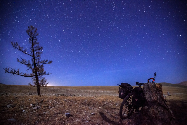 sleeping under the sky of Mongolia