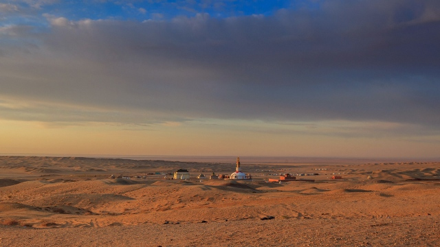 Khamarind Khiid, temple of power!! in the middle of the Gobi Desert, southern Mongolia