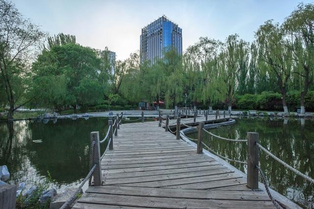 Manduhai park near my hostel in Hohhot