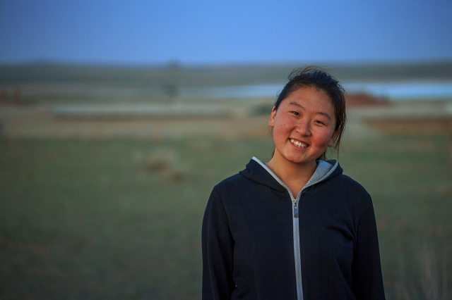 Habrah, a very nice Mongolian girl who speaks Mongolian, Chinese, English and Japanese