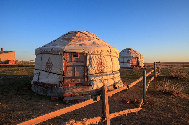 smaller tourist gers in Inner Mongolia
