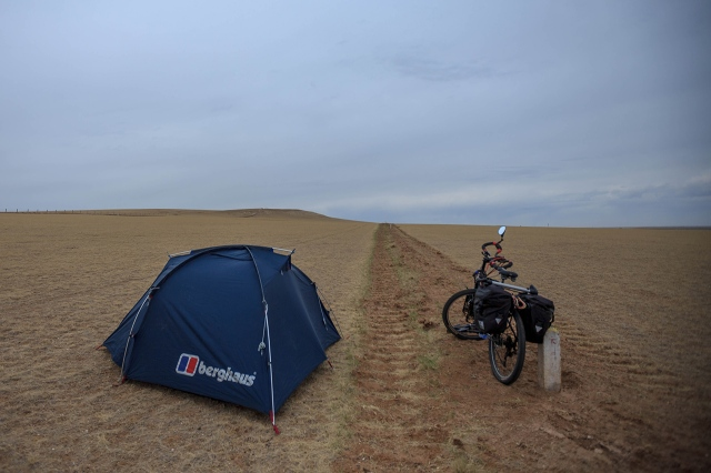 camping under the bad weather