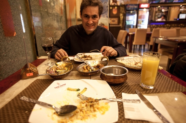 feasting some good Indian food in Ulaanbaatar with a Portuguese friend