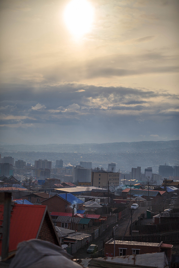 looking south from Ulaanbaatar. Very unpredictable weather in the Gobi Desert...