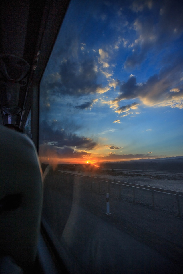 beautiful sunset between Gansu and Xinjiang. I imagined myself camping here and slurping my tea while enjoying these view...