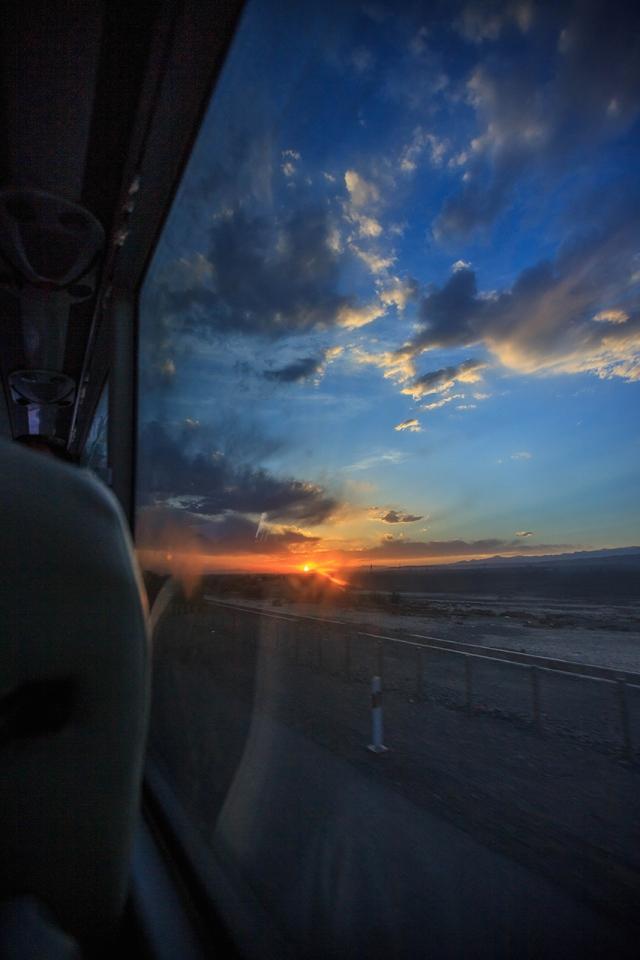beautiful sunset between Gansu and Xinjiang. I imagined myself camping here and slurping my tea while enjoying these view...