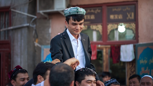 an Uighur groom on his big day