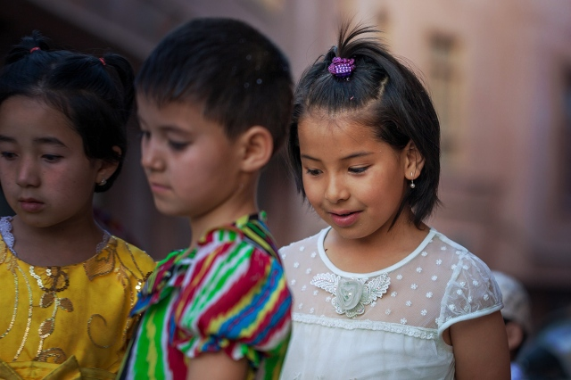 cute Uighur kids during the wedding