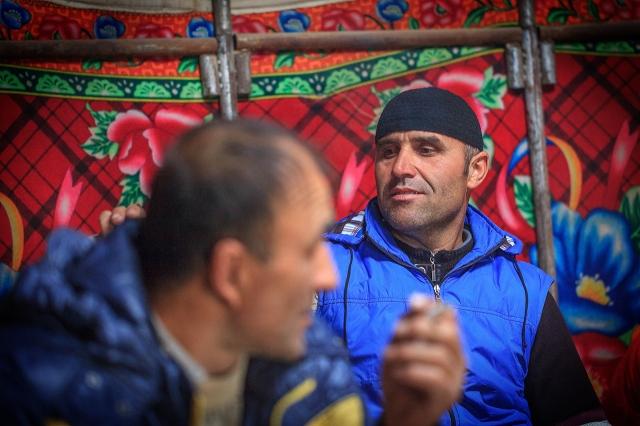 a Tajik trucker