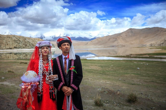traditional Tajik wedding in the beautiful Karakul Lake
