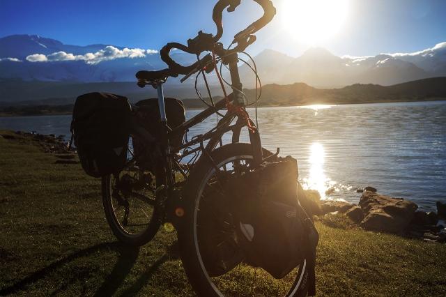 amazing morning light at Karakul Lake and the surrounding mountains.. so peaceful
