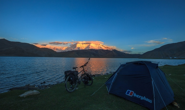 the last light in Karakul Lake