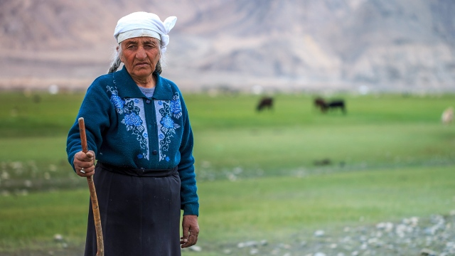 a Tajik woman who has survived so many winters in the Pamir mountains