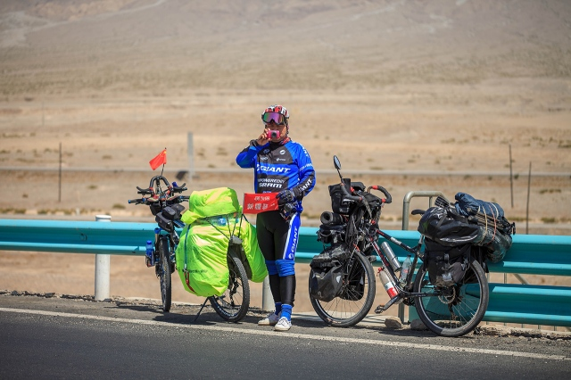 the Chinese cyclist from Urumqi