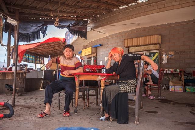 Uighur restaurant where I stopped by for lunch outside Aksu