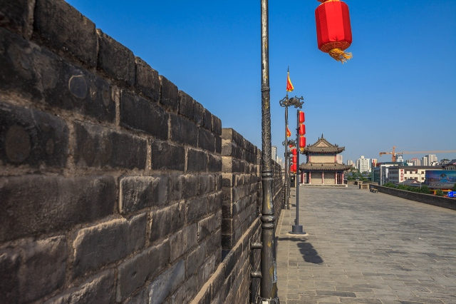 inside the ancient wall of Xi'an