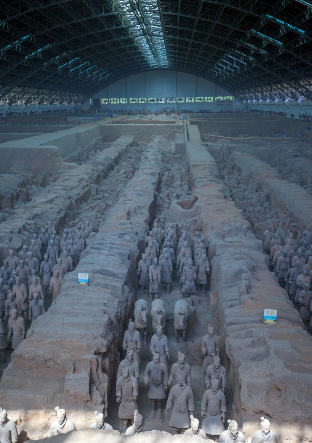 the Terracotta Warriors in Binmayong, not far from Xi'an