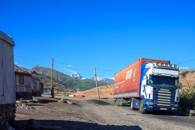 Irkeshtam pass on the Kyrgyz side