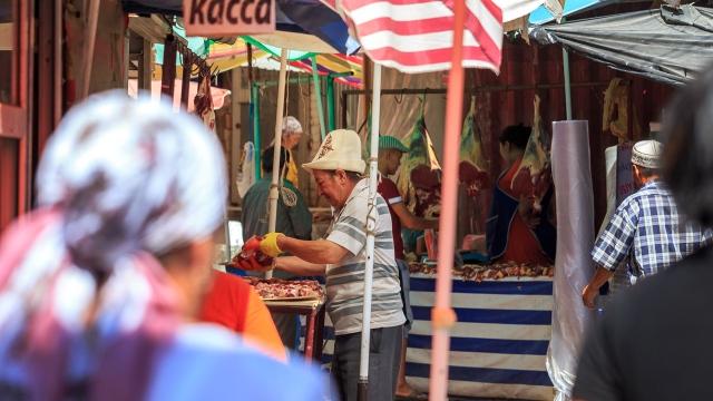 small bazaar in Osh